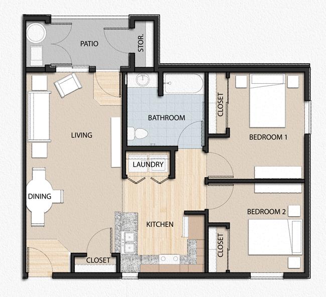 Floor plans willow springs senior apartments for Affordable housing floor plans